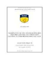 Nghiên cứu các yếu tố ảnh hưởng đến thái độ làm việc của nhân viên tại công ty TNHH Bonfiglioli Việt Nam