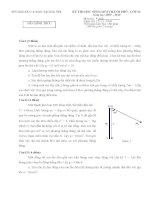 Đề thi học sinh giỏi môn Vật lý các năm của THÀNH PHỐ Hà Nội 2009