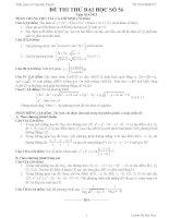 Đề thi thử đại học môn Toán lời giải chi tiết số 56
