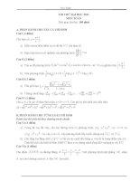 Đề thi thử đại học môn Toán kèm đáp án số 9