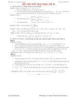 Đề thi thử đại học môn Toán lời giải chi tiết số 39