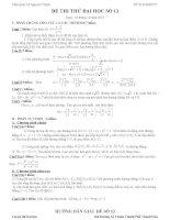 Đề thi thử đại học môn Toán có lời giải chi tiết số 13