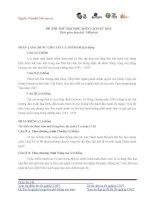 Đề thi lịch sử lớp 12 - sưu tầm đề và đáp án thi sử tham khảo (34)