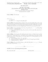 đề thi tuyển sinh toán lớp 10 đại học sư phạm hà nội