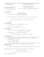 THI TUYỂN SINH vào lớp 10 CHUYÊN khánh hòa môn toán