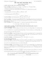 Đề thi thử đại học môn Toán có lời giải chi tiết số 2