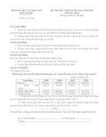 Đề  thi thử THPT môn địa lý tỉnh  Bắc Giang