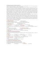 Đề thi môn tiếng anh 12 phần đọc hiểu số 8