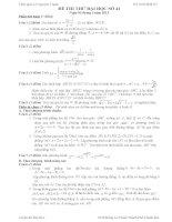 Đề thi thử đại học môn Toán lời giải chi tiết số 41
