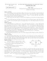 ĐỀ THI CHỌN HỌC SINH GIỎI CẤP TỈNH LỚP 9 THCS TỈNH PHÚ THỌ 2012 môn vật lý