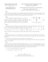 Đề thi HSG lớp 11 tỉnh Thái Nguyên 2010-2011 (có đáp án) môn vật lý