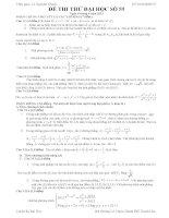 Đề thi thử đại học môn Toán lời giải chi tiết số 59