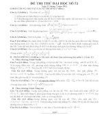 Đề thi thử đại học môn Toán lời giải chi tiết số 53