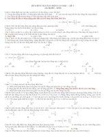 đề kiểm tra dao động cơ-bài số 1 THPT KỲ LÂM HÀ TĨNH