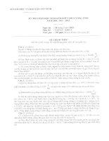 Đề thi học sinh giỏi VL9 tỉnh Tây Ninh năm 2013 môn vật lý