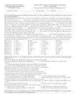 Đề thi thử - 2014 - Môn Tiếng anh - Trường THPT Nui Thanh - Quảng Nam