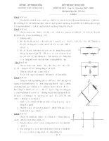 Đề và đáp án thi chọn HSG11-THPT Đông Sơn I môn vật lý