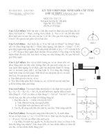 Đề thi + Đáp an HSG Lớp 12 Tỉnh Bà Rịa - Vũng Tàu năm học 2010 - 2011 môn vật lý