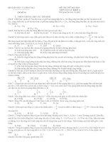 Đề luyện thi đại học môn Vật lý số 10
