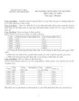 Bộ đề thi học sinh giỏi môn Địa Lý lớp 9 cấp Trường