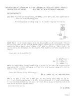 Đề thi giải toán trên máy tính cầm tay bậc trung học - Đà Nẵng 2008-2009 môn vật lý