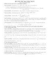 Đề thi thử đại học môn Toán lời giải chi tiết số 52