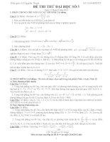 Đề thi thử đại học môn Toán có lời giải chi tiết số 5