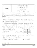 Đề kiểm tra 1 tiết Vật Lý 11 - Đề số (44)