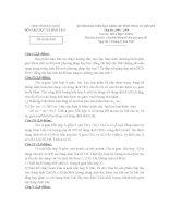 đề thi gv dạy giỏi cấp huyện môn hóa học, đề 2