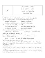 Đề kiểm tra 1 tiết lớp 7 môn Sinh học đề số 2 trường THCS Kim Đồng