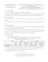 Đề thi học sinh giỏi Địa lí lớp 11 chọn lọc số 18