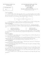 Đề thi học sinh giỏi môn Sinh học lớp 12 chọn lọc số 3