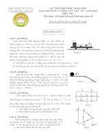 Đề thi học sinh giỏi vật lý 10 trại hè Hùng Vương