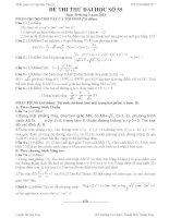 Đề thi thử đại học môn Toán lời giải chi tiết số 55