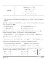 Đề kiểm tra 1 tiết Vật Lý 11 - Đề số (40)