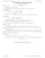 Đề thi thử đại học môn Toán có lời giải chi tiết số 7