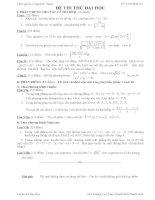 Đề thi thử đại học môn Toán lời giải chi tiết số 37