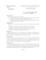 đề thi gv dạy giỏi cấp huyện môn hóa học, đề 5