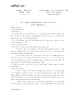 Đáp án Đề thi học sinh giỏi lớp 9 môn Văn trường THCS Kim Thư  Thanh Oai Hà Nội năm 2014