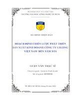 Hoạch định chiến lược phát triển sản xuất kinh doanh công ty LeLong Việt Nam đến năm 2020