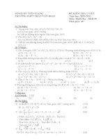 Đề kiểm tra 1 tiết Toán hình học lớp 10