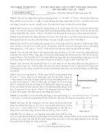 Đề & đáp án HSG 12 - Vĩnh Phúc -2014-2015 môn vật lý