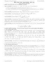 Đề thi thử đại học môn Toán có lời giải chi tiết số 116