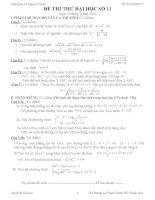 Đề thi thử đại học môn Toán có lời giải chi tiết số 11