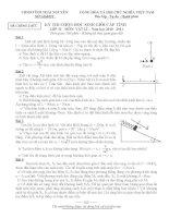 Đề thi HSG lớp 12 tỉnh Thái Nguyên 2010-2011 (có đáp án) môn vật lý