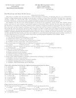 Đề thi thử lần 2 - 2014 - Môn Tiếng anh - Trường THPT Chuyên Thái Bình - Thái Bình