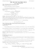 Đề thi thử đại học môn Toán có lời giải chi tiết số 10