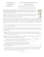 ĐỀ THI HSG TỈNH NGHỆ AN 2013-2014 (Đề đề nghị) môn vật lý