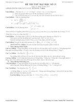 Đề thi thử đại học môn Toán có lời giải chi tiết số 15
