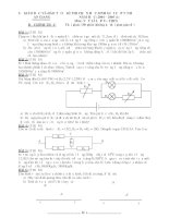 Đề thi học sinh giỏi vật lý 9 tỉnh An Giang năm học 2004 - 2005 (đề 1)